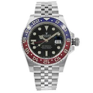 Rolex GMT-Master II Pepsi Ceramic Steel Automatic Mens Black Watch 126710BLRO