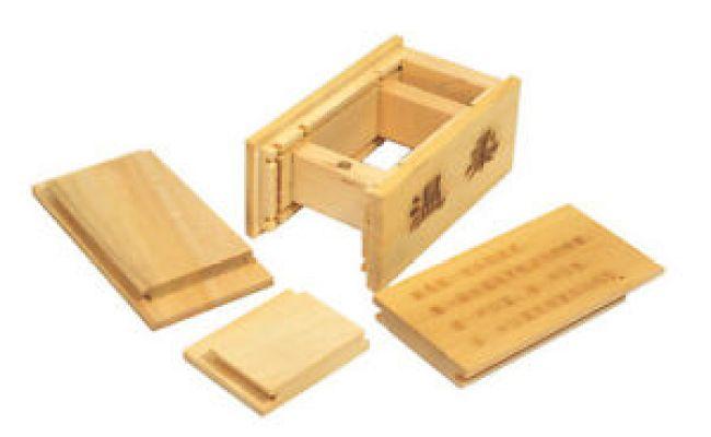 Orient Wood Secret Box Soft Myth Lotus Solid Wooden