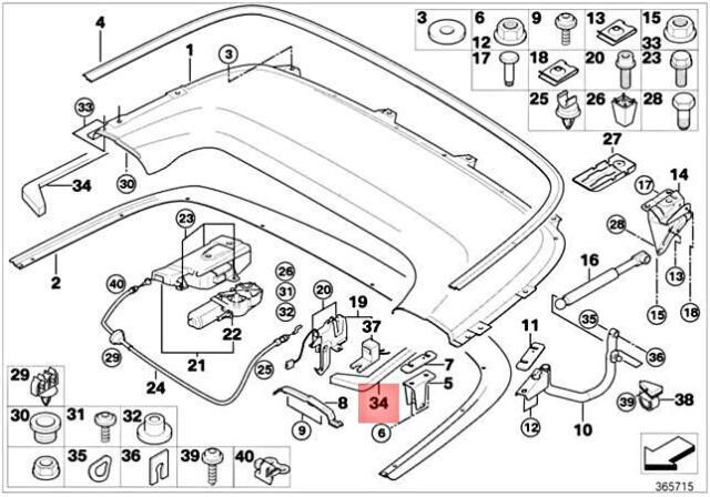 Genuine BMW E46 318Ci 320Cd 320Ci 323Ci Sealing Folding