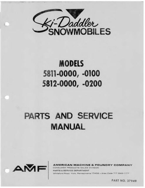 Sea-Doo Service Manual 1991 SeaDoo SP, GT, XP (5804/5811