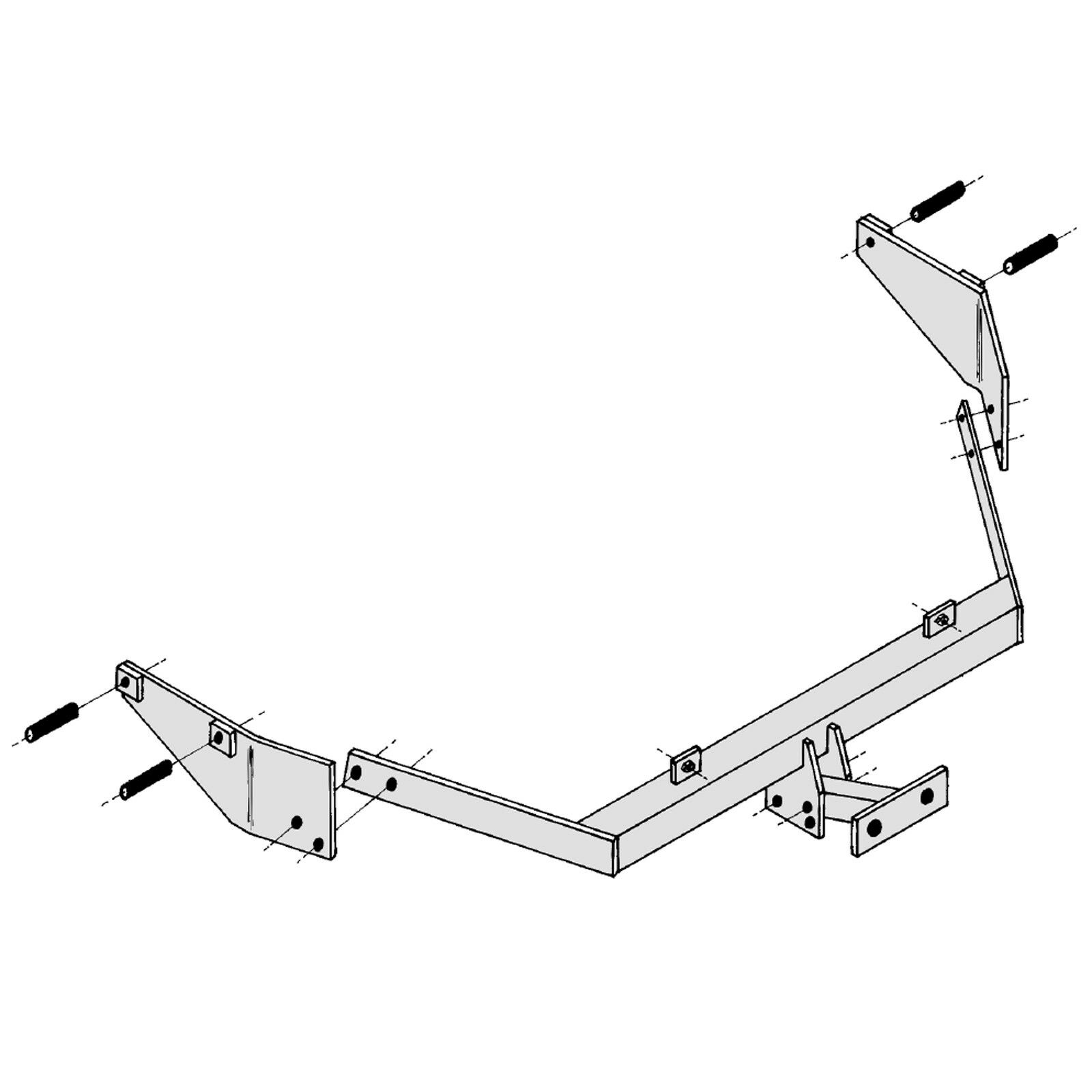 hight resolution of details about towbar for citroen berlingo multispace 1998 2008 flange tow bar