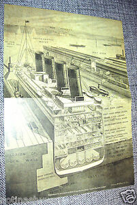 inside the titanic diagram 1999 acura integra stereo wiring sketch plans decks dock ship boat sea ocean illustration image is loading