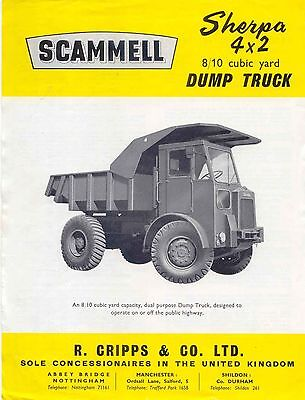 Dump Truck Capacity Cubic Yards : truck, capacity, cubic, yards, Scammell, Sherpa, Truck, Original, Sales, Brochure, S/DT/4x2
