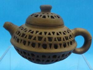 CHINESE YIXING ZISHA TEAPOT SIGNED : EXQUISITE 古色古香的茶壶