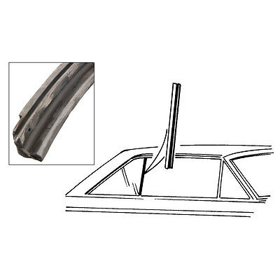 1963-65 FORD FALCON HARDTOP FRONT EDGE OF QUARTER WINDOW