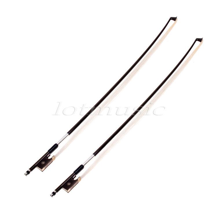 2 Pcs Carbon Fiber Violin Bow Stunning Bow 3/4 Violin Bow