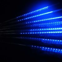 30/50cm 144/240 LED Meteor Shower Rain Lights Waterproof ...