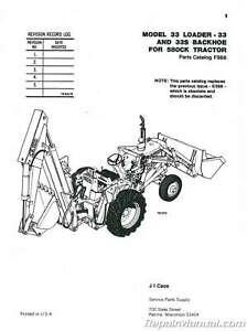 Case-International 33 Loader Backhoe Only 580 Construction