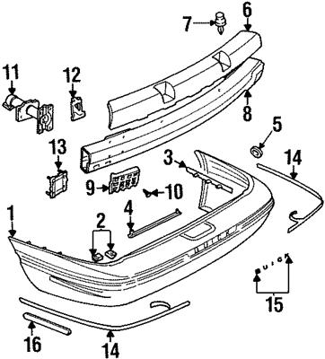 FITS Pontiac Bonneville: 1996, 1997, 1998, 1999, NEW