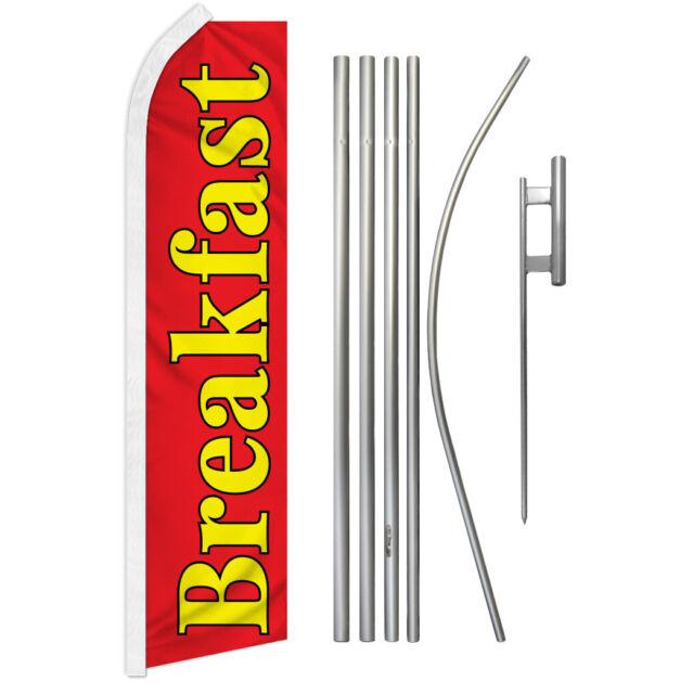 Breakfast Swooper Flutter Feather Advertising Flag Kit Food Flag Diner Special | eBay