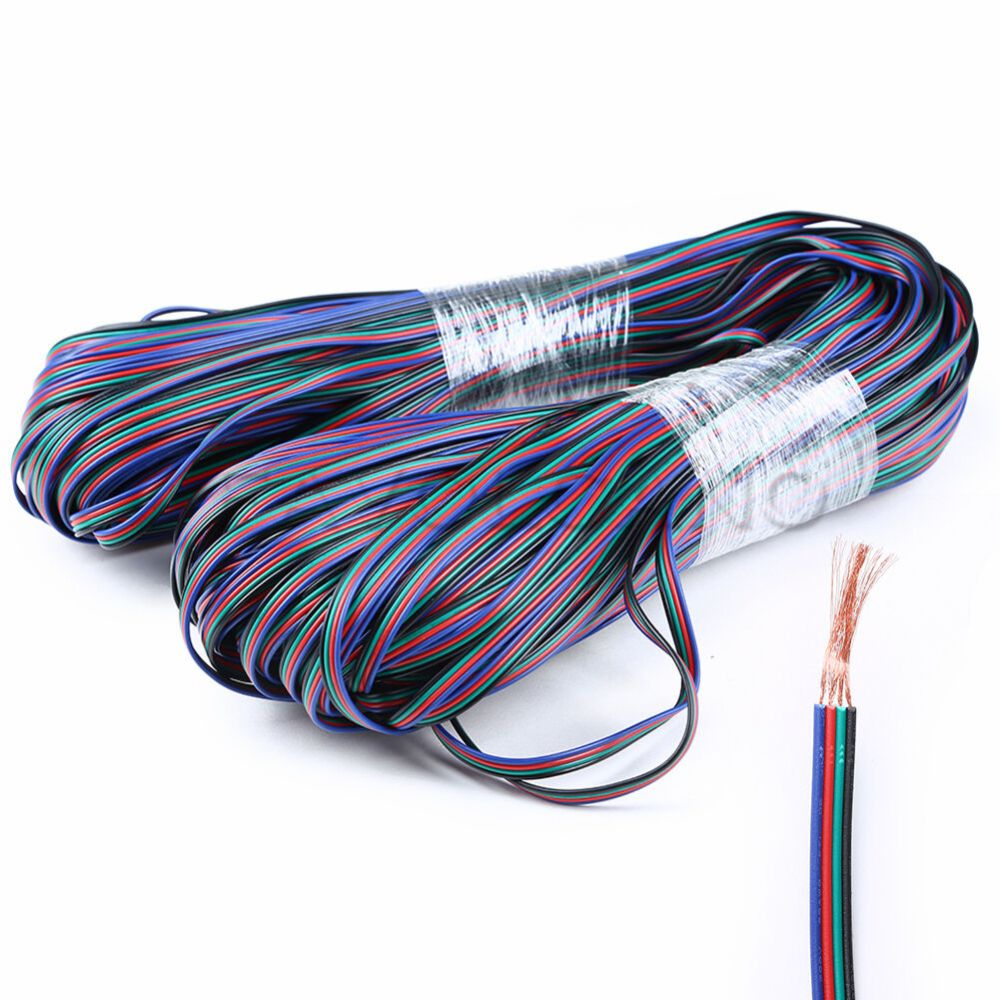 medium resolution of details about rgb 4 pin extension cable wire connector cord for 3528 5050 rgb led strip light