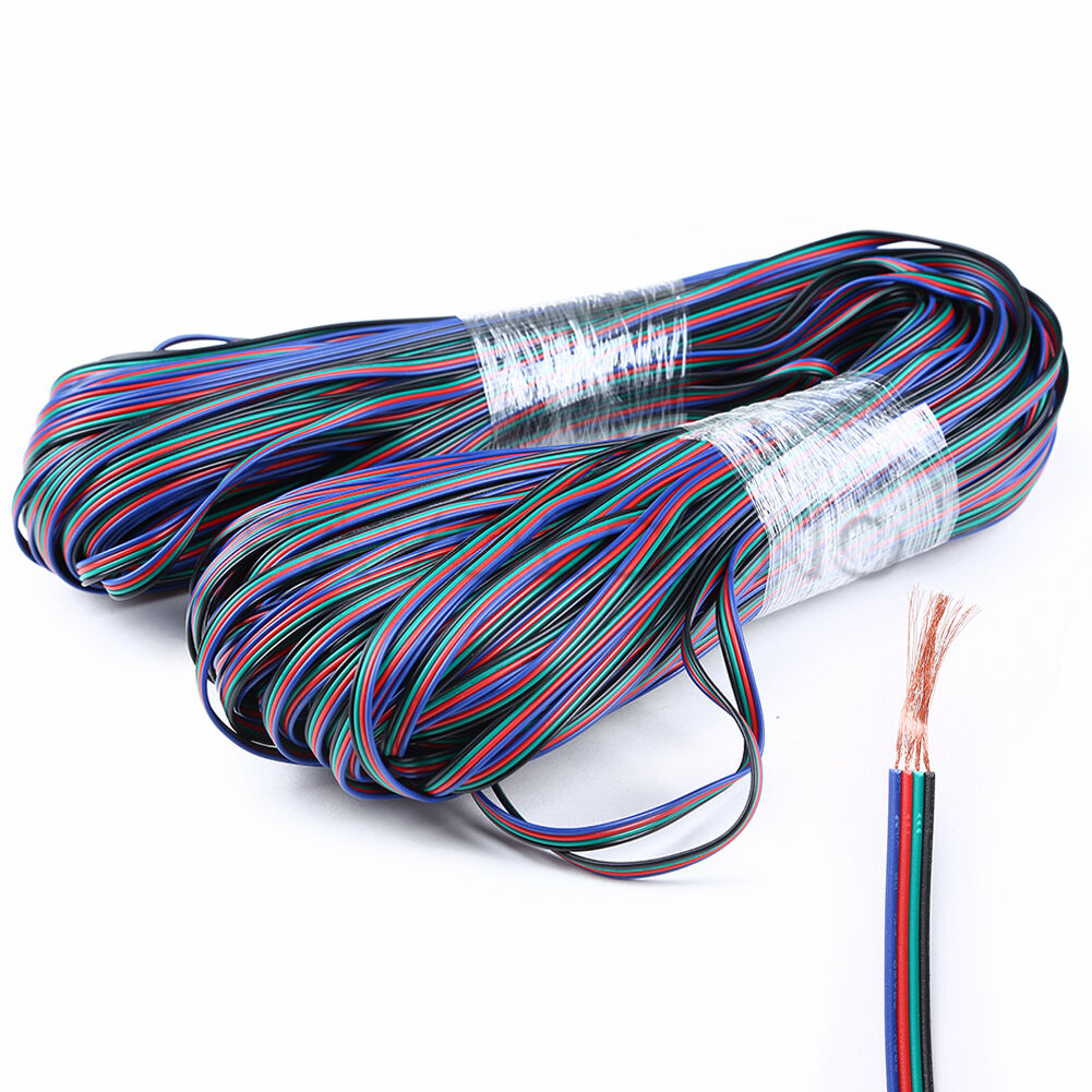 hight resolution of details about rgb 4 pin extension cable wire connector cord for 3528 5050 rgb led strip light