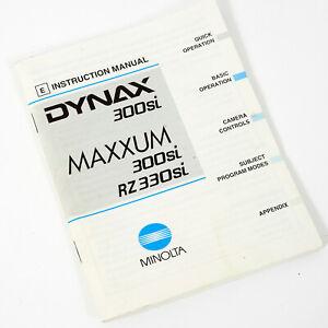 MINOLTA DYNAX 300si & MAXXUM 300si RZ330si INSTRUCTION