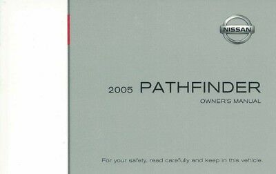 2005 Nissan Pathfinder Owners Manual User Guide Reference