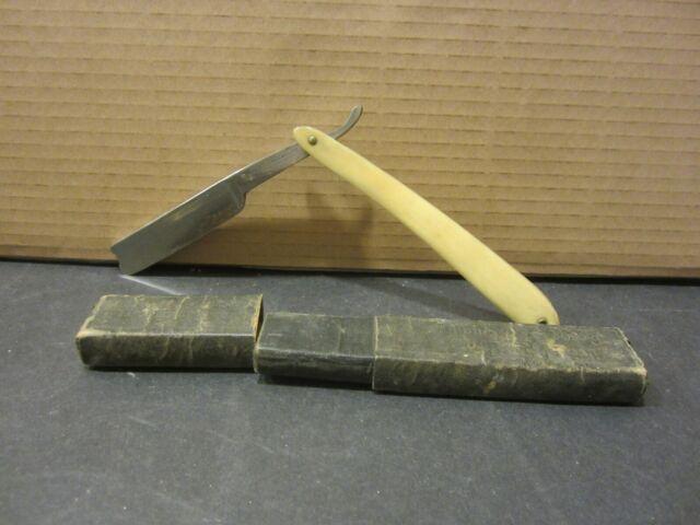 Folding Straight Razor English Steel w/Box   eBay