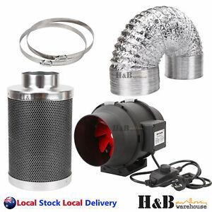 details about ezyflow hydroponics grow tent inline exhaust fan 4 6 8 filter duct fan kit