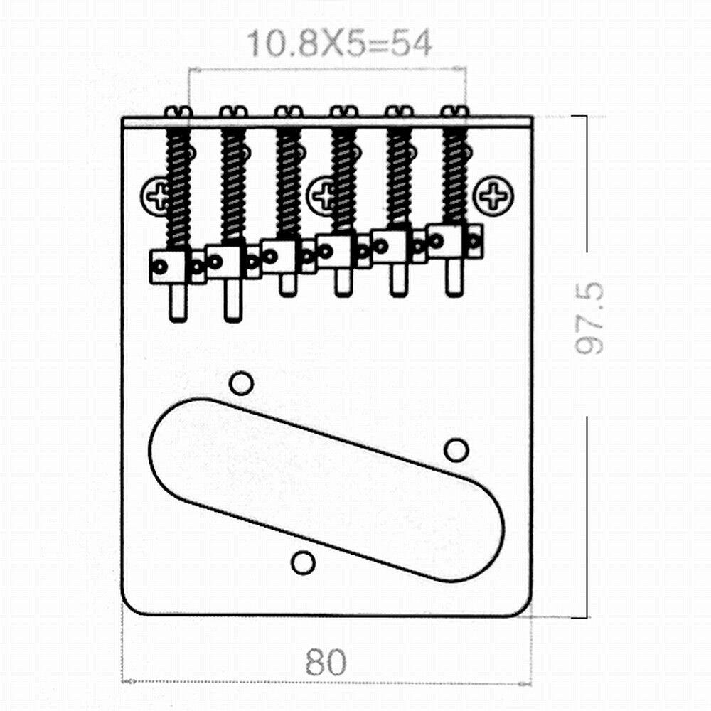 Guitar 6 Saddle Bridge For Fender Tele Telecaster Parts