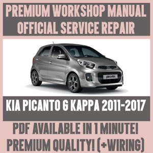 *WORKSHOP MANUAL SERVICE & REPAIR GUIDE for KIA PICANTO G