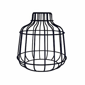 Retro Industrial Black Metal Wire Frame Ceiling Light