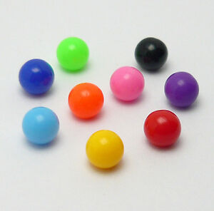 10 Stück Piercing Ersatzkugel Verschluss Kugel Ball Kunststoff Schraubkugel