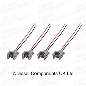 4 x Diesel Injector Connector Plug 2 Way Pre-Wired for