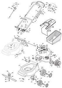 Mountfield 464 PD Petrol Lawnmower RM55 Engine Cutting