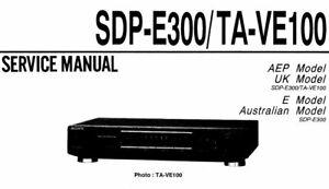 SONY TA-VE100 SDP-E300 SERVICE MANUAL BOOK IN ENGLISH