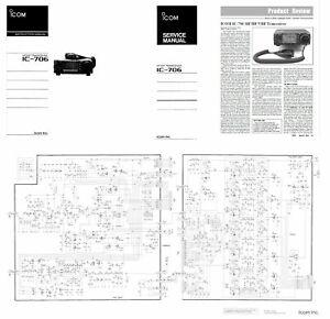 ICOM IC-706 COPY INSTRUCTION + SERVICE MANUALS + 11x17