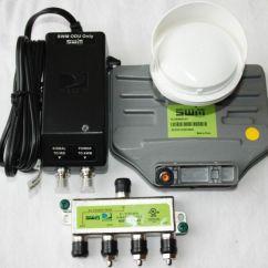 Directv Without Swm Guitar Rig Diagram Sl 3 Lnb Power Splitter Green Slimline Satellite Swim Sl3 Dtv Lnbf 101