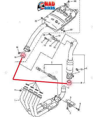 YAMAHA FZ6 FAZER 07,08,09 MODLES EXHAUST SYSTEM GASKET