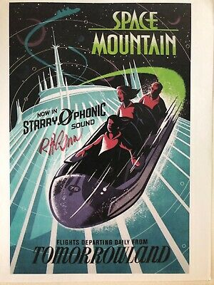 wdw space mountain attraction poster signed by disney legend bob gurr ebay