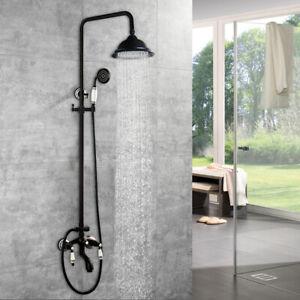 details about oil rubbed bronze bathroom shower set rainfall shower head hand sprayer