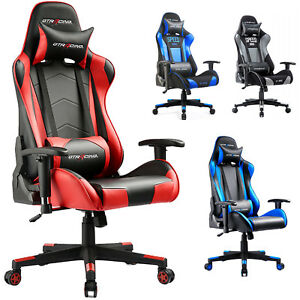 office chair posture hanging for bedroom ireland gtracing executive racing gaming ergonomic pu leather image is loading