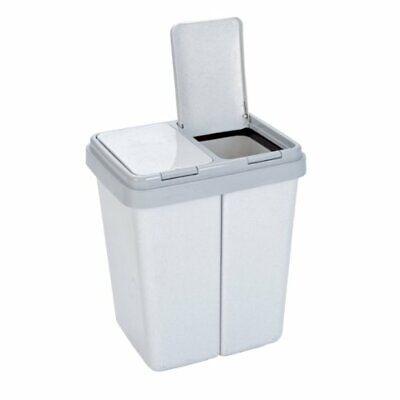 axentia poubelle de cuisine avec 2 compartiments 2 x 23 l poubelle tri sele ebay