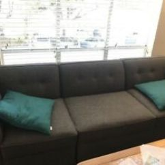 Macy S Sectional Sofa Sears And Loveseat 5 Piece Couch Gray Practically New Jonathan Image Is Loading