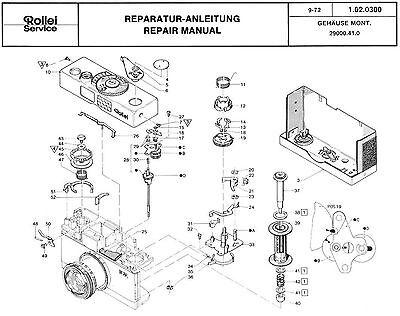 ROLLEI Repair Manual B35 compact 35mm film camera SERVICE