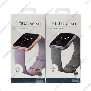 Fitbit Versa Special Edition Smart Watch Sleep Tracker Woven Large & Small Band