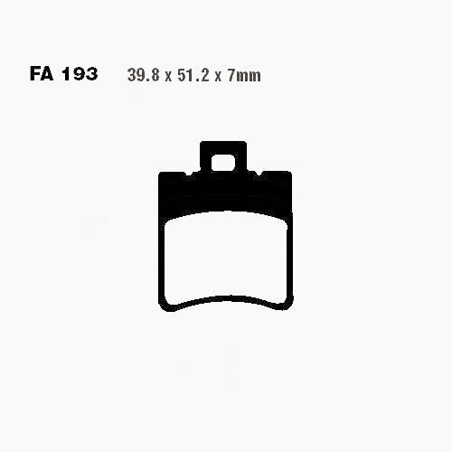 Bremsbelaege SCO EBC hinten SFA193 MALAGUTI F15 50 44
