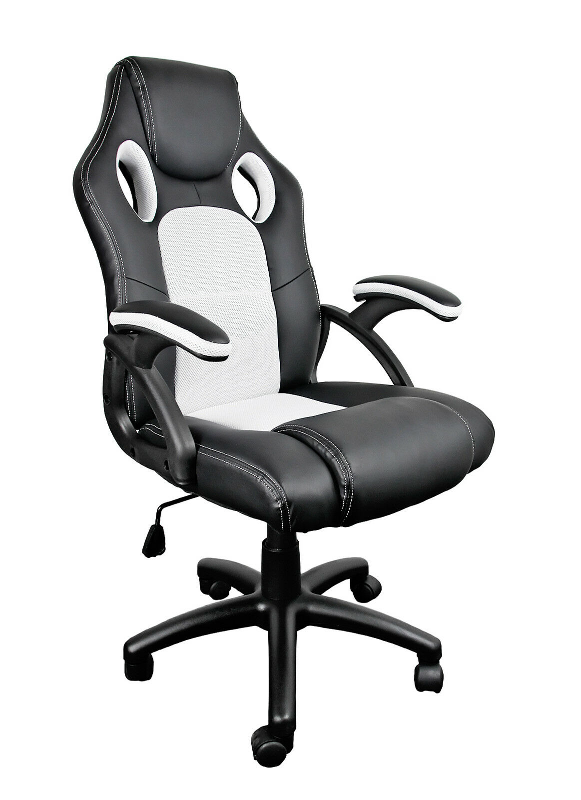 leather bucket chair swivel bearing racing sport computer desk gaming office seat