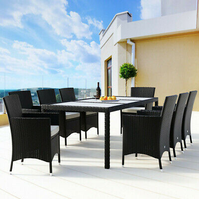 harrier rattan garden dining table chair set 6 8 seater patio furniture ebay