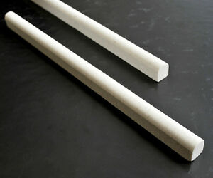 details about cream limestone 1 2 x 12 pencil liner trim chair rail molding wall tile