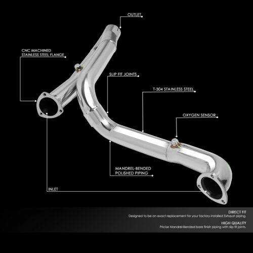for 09 14 ram 1500 5 7l v8 at performance 3 od stainless steel exhaust y pipe auto parts and vehicles car truck exhaust pipes tips kancelariatobor com