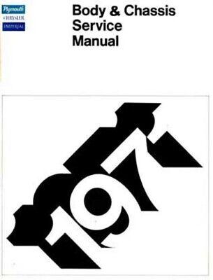 1971 Chrysler Plymouth Shop Service Repair Manual Engine