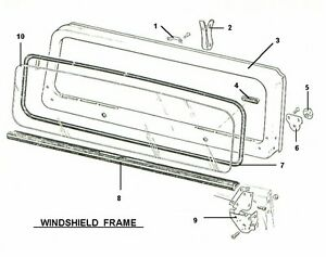 WINDSHIELD FRAME COWL & GLASS SEALS 1976-1986 JEEP CJ5 CJ7