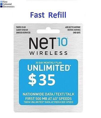 Net10 $35/Month Refill -- Unlimited Talk/Text/Data. Fast & Right | eBay