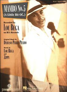 Lou Bega Mambo 5 : mambo, MAMBO, SHEET, MUSIC, PIANO/VOCAL/GUITAR, EXTREMELY, SALE!