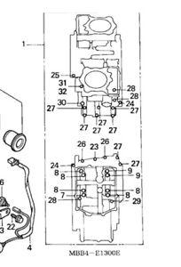 02 HONDA VTR 1000F ENGINE Crankcase BOLTS HARDWARE MOTOR