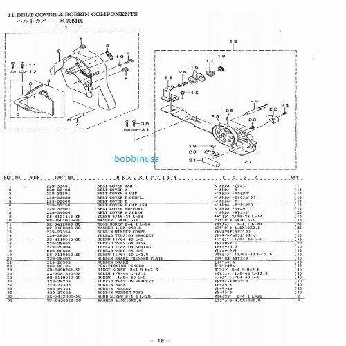 Belt Cover Screws 2pcs Juki DDL 8700 5550 8500 DLN 5410
