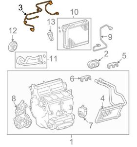 For Toyota Genuine HVAC System Wiring Harness 822100C010