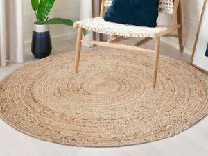 tapis jute rond 100 naturel 120 cm